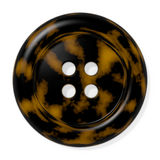 Tortoise Shell Button. Tortoiseshell button isolated on white background. Computer generated image with clipping path Stock Photos