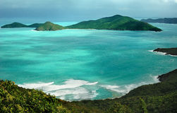 Tortola. Tropical landscape in Tortola, a Caribbean island stock photography