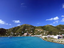 Tortola. Port of Tortola, view from the ship royalty free stock image