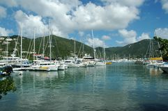 Tortola harbor Stock Photography