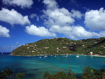 Tortola island. Tortola, Cane Garden Bay view from the hill stock images
