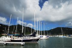 Tortola Island Marina Royalty Free Stock Images