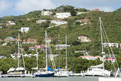 Tortola Island Yachts Royalty Free Stock Photography