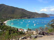 Tortola West Indies. A beach in Tortola in the West Indies Stock Images