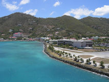 Tortola West Indies. Tortola harbour in the West Indies Stock Photos