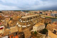Tortosa from castle. Spain Stock Photos