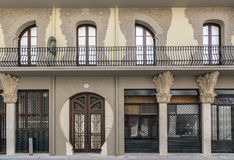 Tortosa,Catalonia,Spain. Architecture, modernist building facade, House, Casa Grego in Tortosa, province Tarragona, Catalonia Royalty Free Stock Image