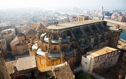 Tortosa with Cathedral from Suda castle. Catalonia Royalty Free Stock Photo