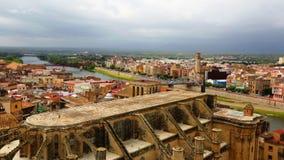 Tortosa met Kathedraal van Suda-kasteel Stock Fotografie