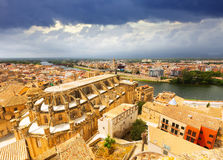 Tortosa from Suda castle. Catalonia Royalty Free Stock Images