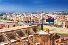 Tortosa   from Suda castle Royalty Free Stock Photography