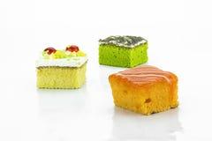 Tortowa śmietanka, pomarańcze i zielona herbata, Zdjęcia Stock