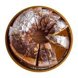 tortowa ceramiczna czekoladowa taca Obrazy Royalty Free