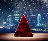 Tortowa cukierniana Moscow deszczu torta kawiarnia Zdjęcia Stock
