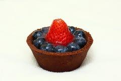 tortowa czarnej jagody truskawka Zdjęcia Stock