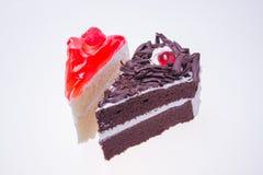 Tortowa czekolada I truskawka Obrazy Royalty Free