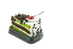 Tortowa czekolada i zielona herbata Zdjęcia Stock