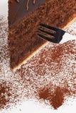 tortowa czekolada odizolowywający kawałek smakowity Fotografia Royalty Free