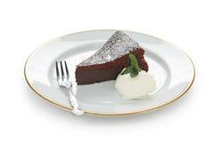 tortowa czekolada spadać souffle Obrazy Stock
