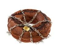 Tortowa czekolada z łańcuchami Zdjęcie Royalty Free