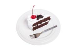 Tortowa czekolada z wiśnią Zdjęcie Stock