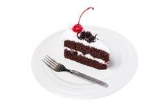 Tortowa czekolada z wiśnią Fotografia Royalty Free