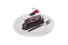 Tortowa czekolada z wiśnią Obraz Stock
