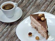 tortowa czekoladowa kawa Obrazy Stock