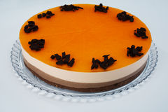 tortowa czekoladowa kremowa pomarańcze zdjęcia royalty free