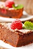 tortowa czekoladowa malinka Fotografia Royalty Free