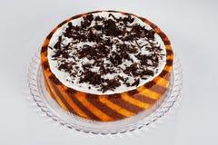 tortowa czekoladowa pomarańcze zdjęcie stock