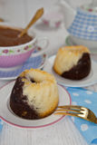 Tortowa i gorąca czekolada Zdjęcie Stock