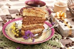 tortowa kawowa herbata Zdjęcie Royalty Free