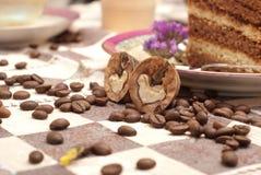 tortowa kawowa herbata Zdjęcia Royalty Free