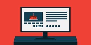 Tortowa sprzedaż dla piekarni lub ciasto sklepu komputeru reklamy Zdjęcie Stock