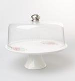 tortowa stojaka lub szkła tortowa taca na backgeound Obraz Royalty Free