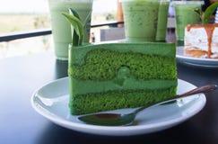 tortowa zielona herbata obraz royalty free