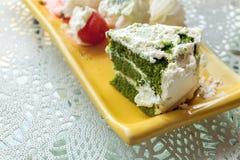 tortowa zielona herbata obraz stock