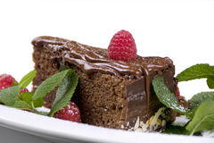 tortowe czekolady mennicy malinki Fotografia Royalty Free