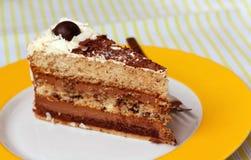 tortowe czereśniowe czekoladowe kakaowe kremowe owoc Obraz Royalty Free