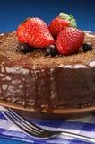 tortowego czekolady zakończenia domowej roboty up Obraz Royalty Free