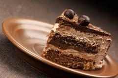 tortowego czekolady zakończenia domowej roboty up Zdjęcia Stock
