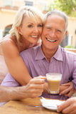 tortowej kawowej pary target1032_0_ senior Obraz Royalty Free