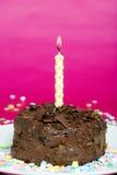 tortowi świeczki czekolady confetti Obraz Stock
