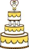 tortowy ślub ilustracja wektor