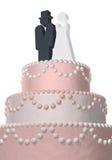 tortowy żeński męski ślub Zdjęcia Royalty Free