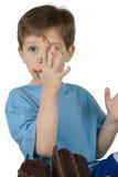 tortowy chłopiec łasowanie Obrazy Royalty Free