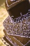 tortowy czekoladowy ślub Obraz Royalty Free