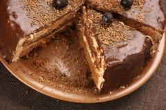 tortowy czekoladowy domowej roboty Obrazy Stock