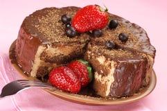 tortowy czekoladowy domowej roboty Obrazy Royalty Free
